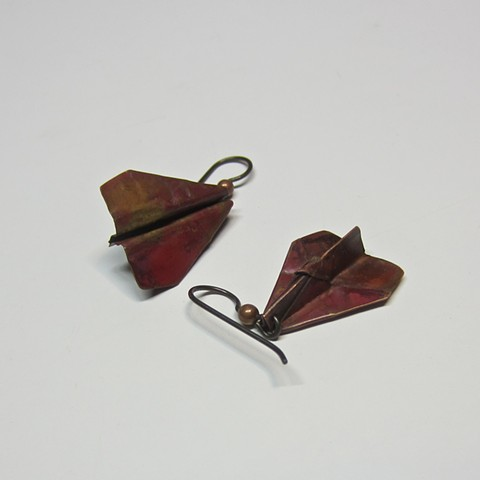Folded Airplane earrings