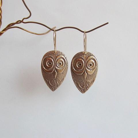 Large Owls earrings