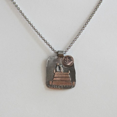 Full Moon on the Shore necklace