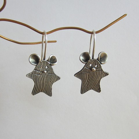 PMC earrings, inspired by nature