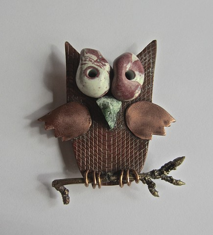 Owl on a Branch magnet