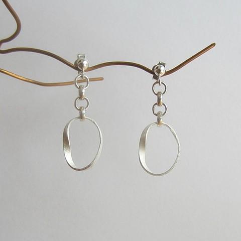 Mobius Band post earrings