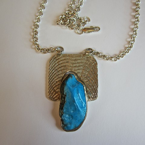 Turquoise and Cuttlefish necklace