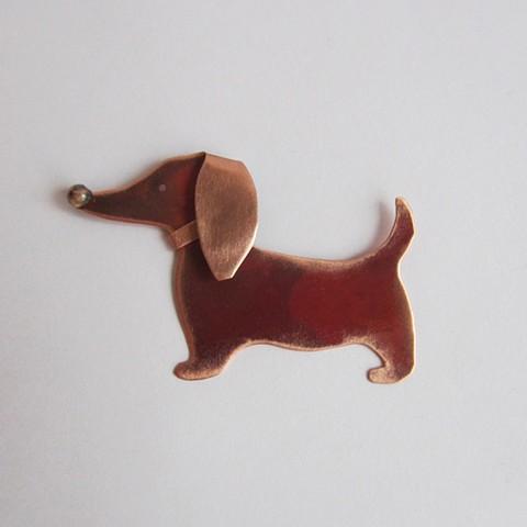 Holiday Dog pin