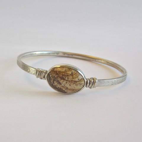 Silver with Jasper bracelet