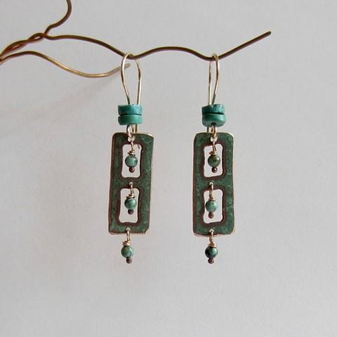 Turquoise Windows earrings
