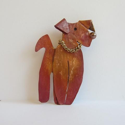 Rainbow Dog pin