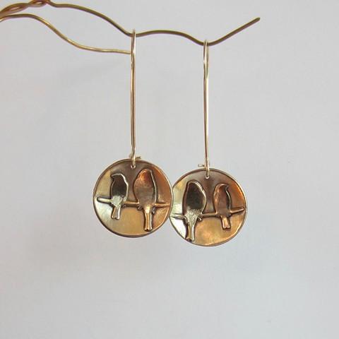 Golden Birds earrings