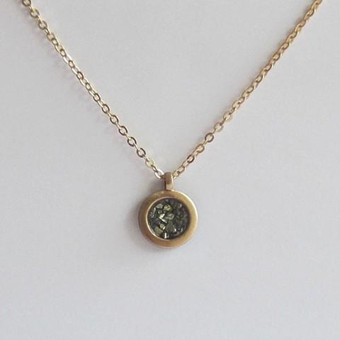 Round  Pyrite necklace