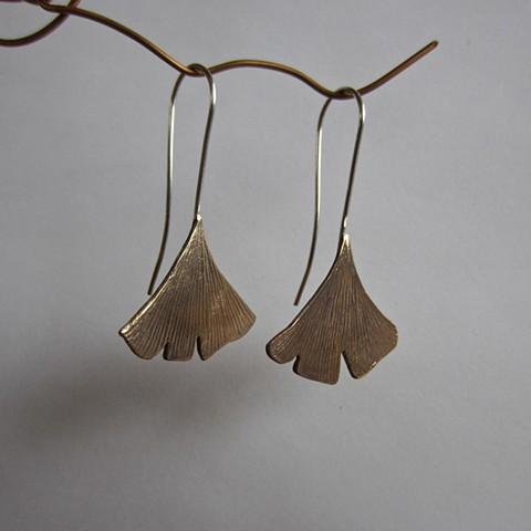 Golden Ginkgo earrings