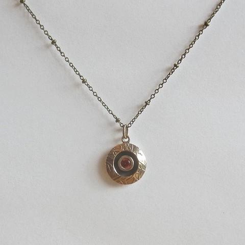 Garnet Lentil necklace