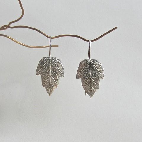Silver Frost Leaf earrings