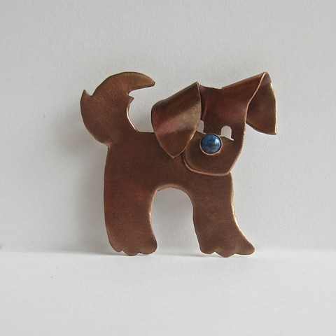 Dog with Blue Nose pin
