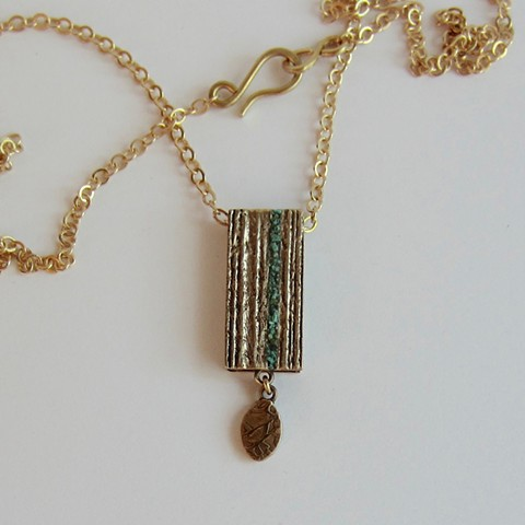 Golden Box with Turquoise