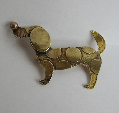 Spotted Dog pin