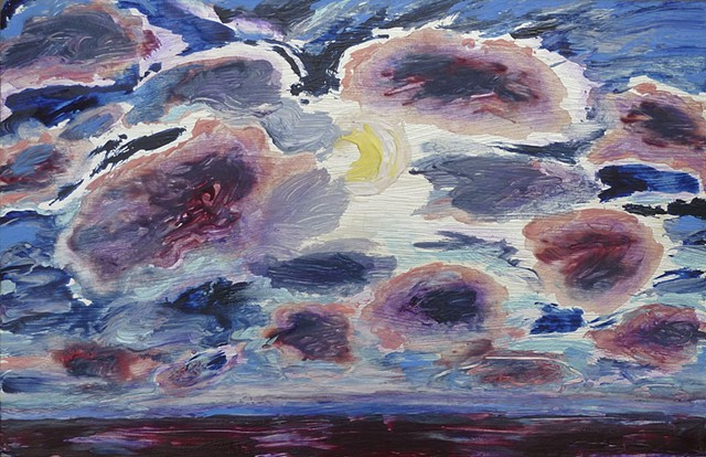 painterly abstract landscape hartley marin dove bonnard clouds sky moon