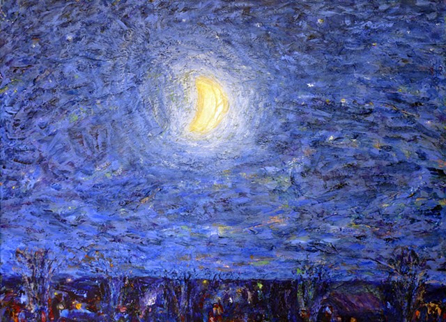painterly abstract landscape hartley marin dove starry night moon stars