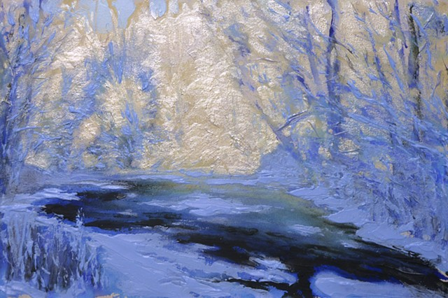 painterly abstract landscape hartley marin dove winter river