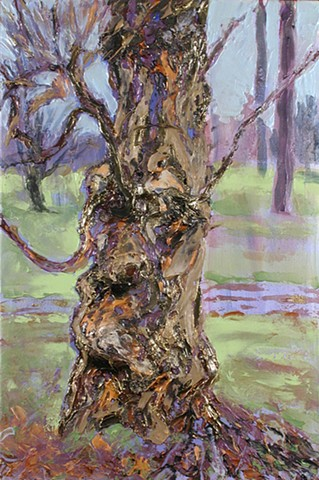 Tree portrait painting acrylic trees