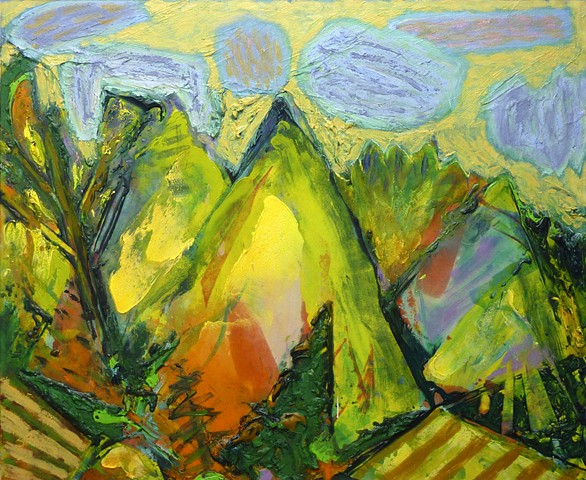 painterly abstract landscape hartley marin dove