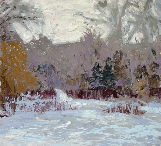 painterly abstract landscape hartley marin dove winter snow