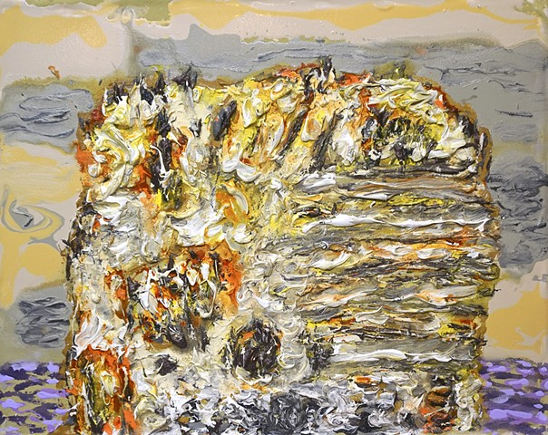 Sea Stack with Yellow Light