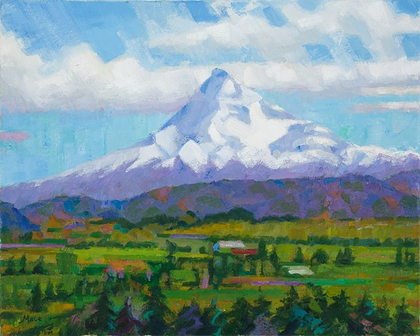 For the second year in a row I painted Mt. Hood from Panorama Point