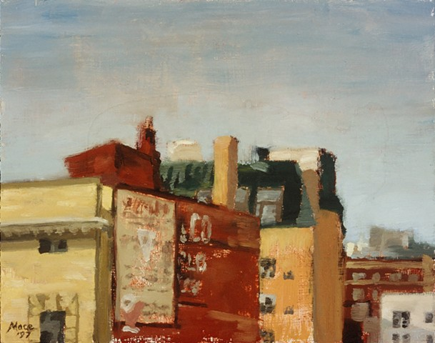 One of the first of my plein air cityscapes of Portland.