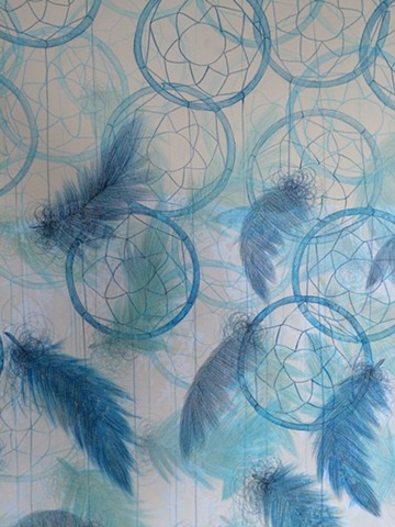Dreamcatchers in Blue (detail)