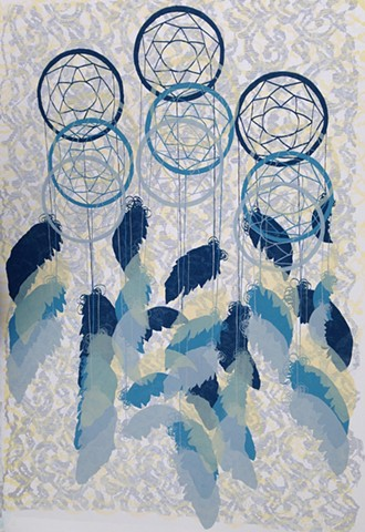 Dreamcatchers in Blue