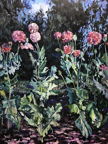 Night Poppies.  Private Collection