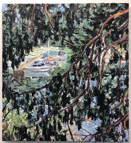 Boats in a Tree.  Private collection