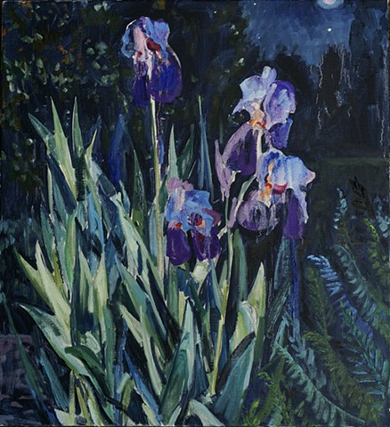 Night Iris. Private Collection