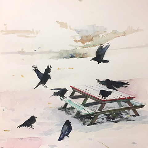 Raven Picnic. Private Collection.