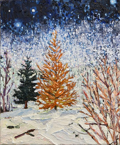 Larch, Day and Night Private Collection.