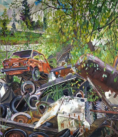 Large scale urban plein air painting