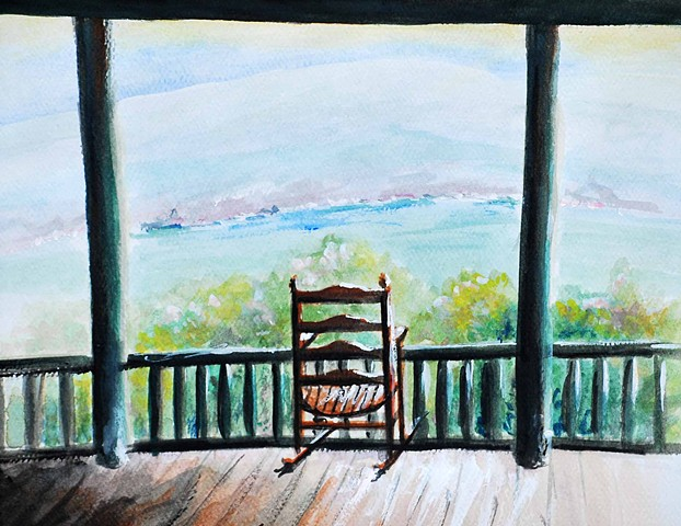 Rocking Chair on Porch Landscape mohonk Diane Daversa