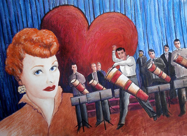 Celebrity Portrait Painting by Diane Daversa Lucille Ball, I love Lucy