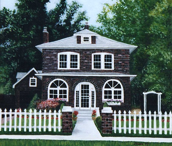 House Portrait Painting by Diane Daversa, diane daversa art, house art