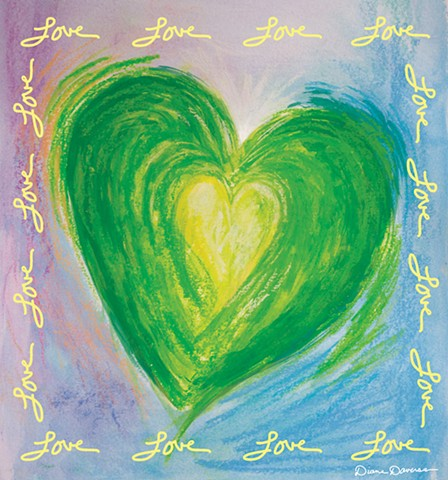 love, inspirational art, art for licensing, heart painting by Diane Daversa, Quotes, sayings