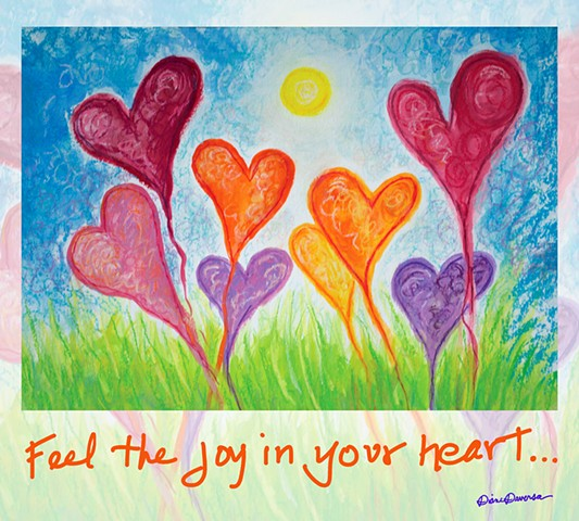 heart art, inspirational art by diane daversa, heart painting by Diane Daversa, Quotes and sayings