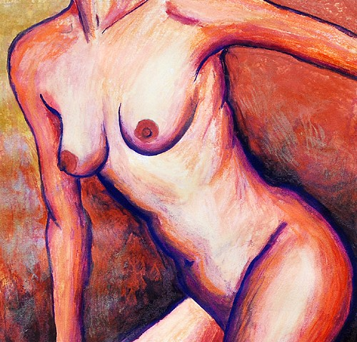 Nude art, figurative art, nude painting by Diane Daversa, diane daversa art, figurative painting
