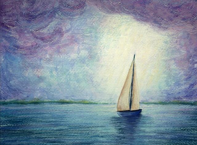 Sailboat painting by diane daversa, Seascape painting, Diane Daversa art