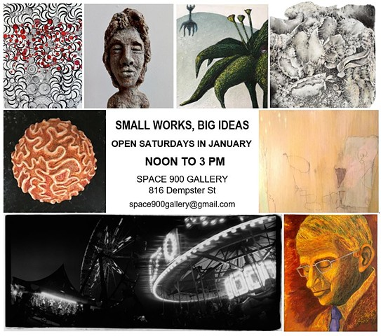 Small Works, Big Ideas - now through January