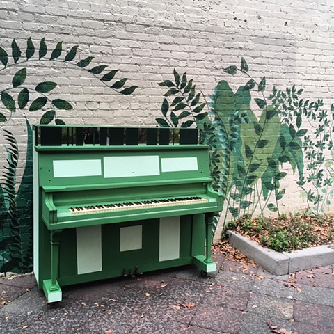 Public Art/ Music piano project for Uptown Grenville, NC
