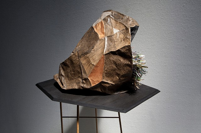 Ben Lyon or Benjamin Lyon makes handmade mixed media art sculpture addressing issue of perceived material value.