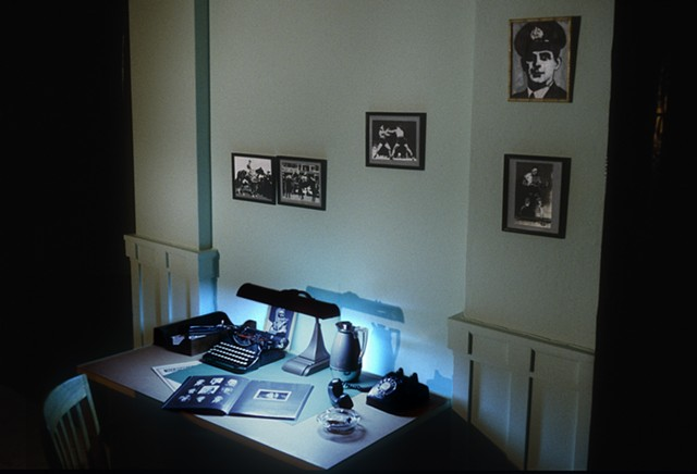 Installation view: police squad room, IN/SITE92, San Diego, California