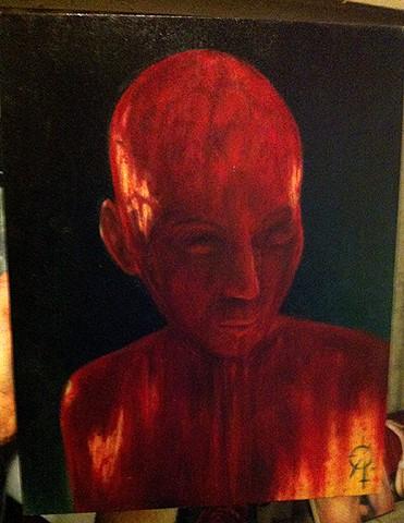 """""""Ritual"""" 2015, oil on wood"""