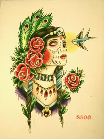 Custom artwork by tattoo artist Sadie Kennedy, Sweet Trade Tattoo, Lahaina, Maui.  Best tattoo shop in Maui!