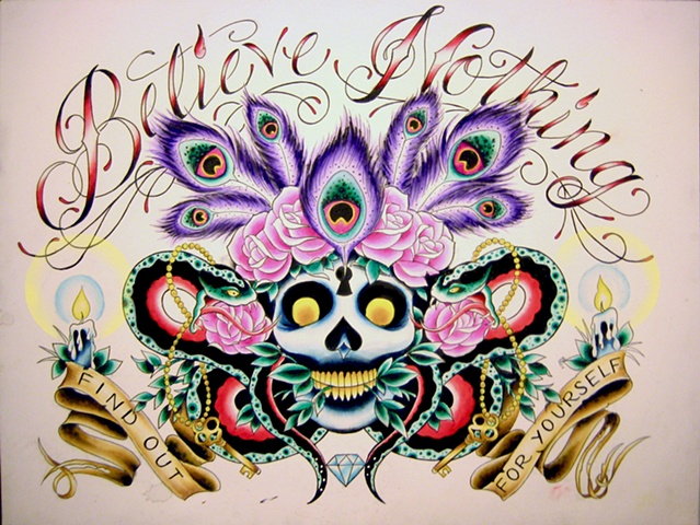 Custom artwork by tattoo artist Sadie Kennedy, Sweet Trade Tattoo, Lahaina, Maui.  Best tattoo shop in Maui!